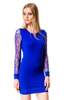 Платье с прозрачными рукавами Mondigo со скидкой