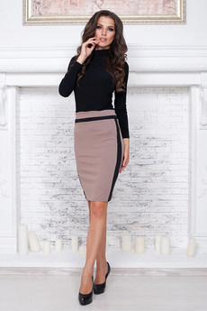 Офисная юбка коричневая Angela Ricci