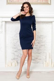 Темно синее платье с длинными рукавами Angela Ricci