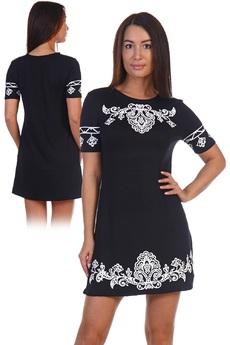 Черное короткое платье Натали