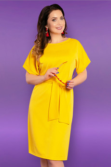 Желтое платье с поясом CHARUTTI