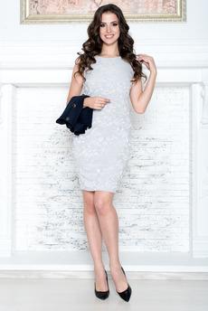 Платье футляр без рукавов Angela Ricci
