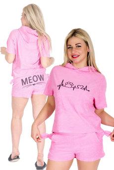 Розовый костюм с ушками Трикотажница