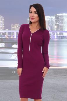 Платье сливового цвета Натали